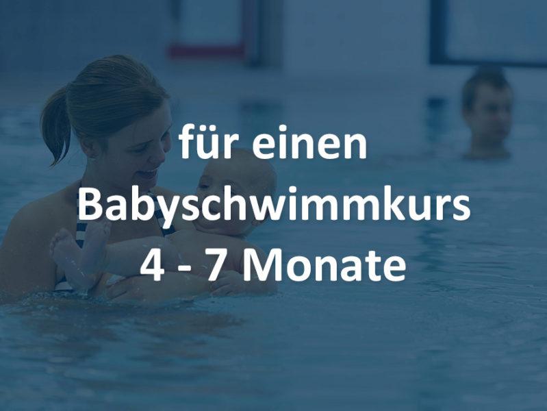 Babyschwimmen 4-7 Monate